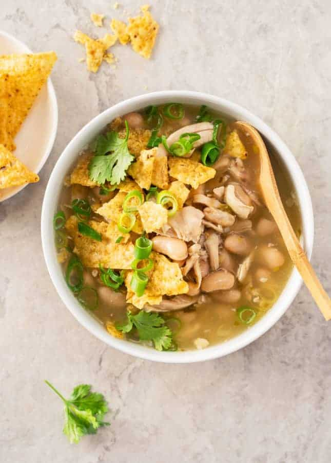 Superfast Mexican Chicken Soup // FoodNouveau.com