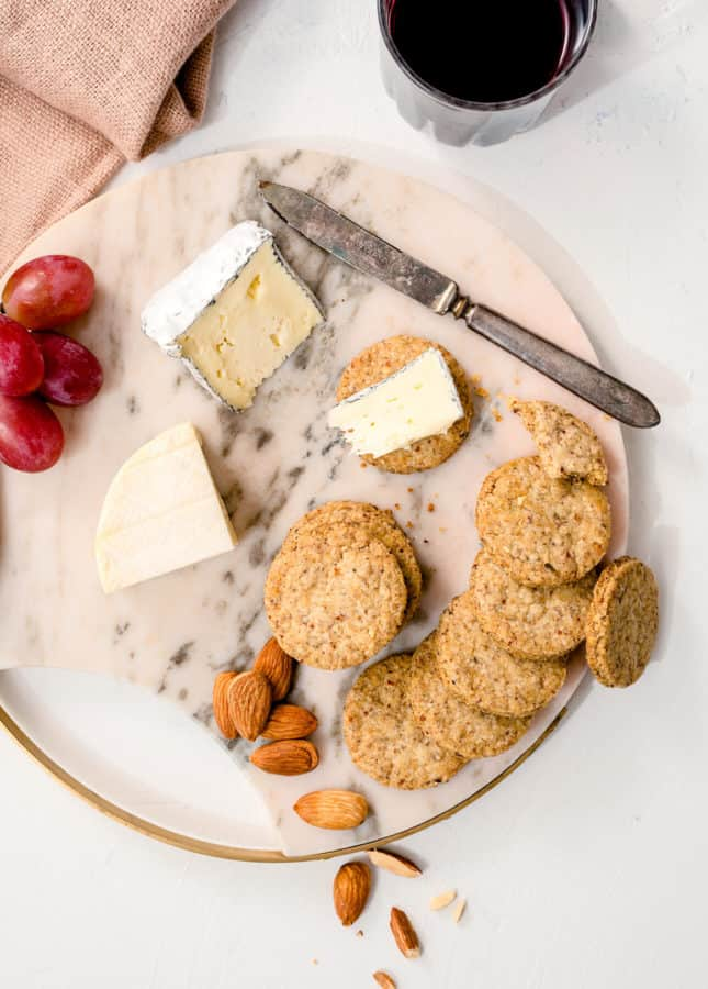 Homemade Savory Crackers with Nuts and Herbs // FoodNouveau.com