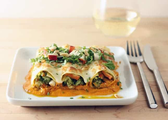 Lobster Cannelloni with Pesto, Rosé Sauce and Toasted Pine Nuts // Food Nouveau