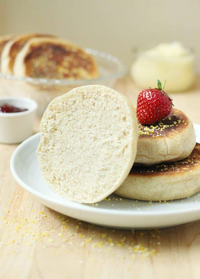How to Make Whole Wheat English Muffins from Scratch // FoodNouveau.com