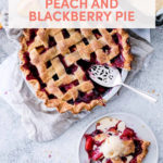 Peach and Blackberry Pie with Olive Oil Gelato // FoodNouveau.com