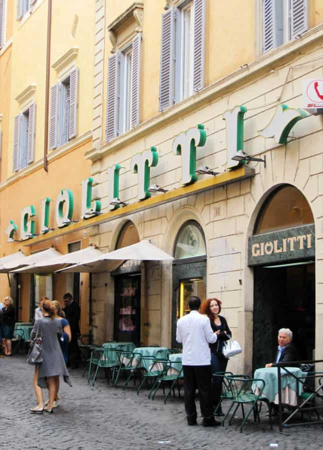 Giolitti, a historic pastry and gelati shop in Rome, Italy // FoodNouveau.com