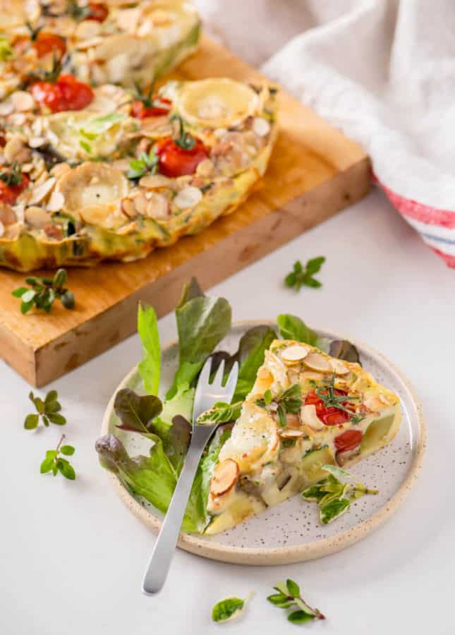 Savory Clafoutis with Summer Vegetables and Goat Cheese // FoodNouveau.com
