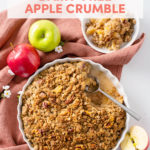 Comforting, Easy, and Vegan: Dairy-Free Apple Crumble // FoodNouveau.com