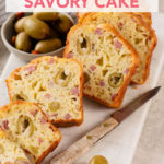 French Savory Cake with Ham, Cheese, and Olives // FoodNouveau.com