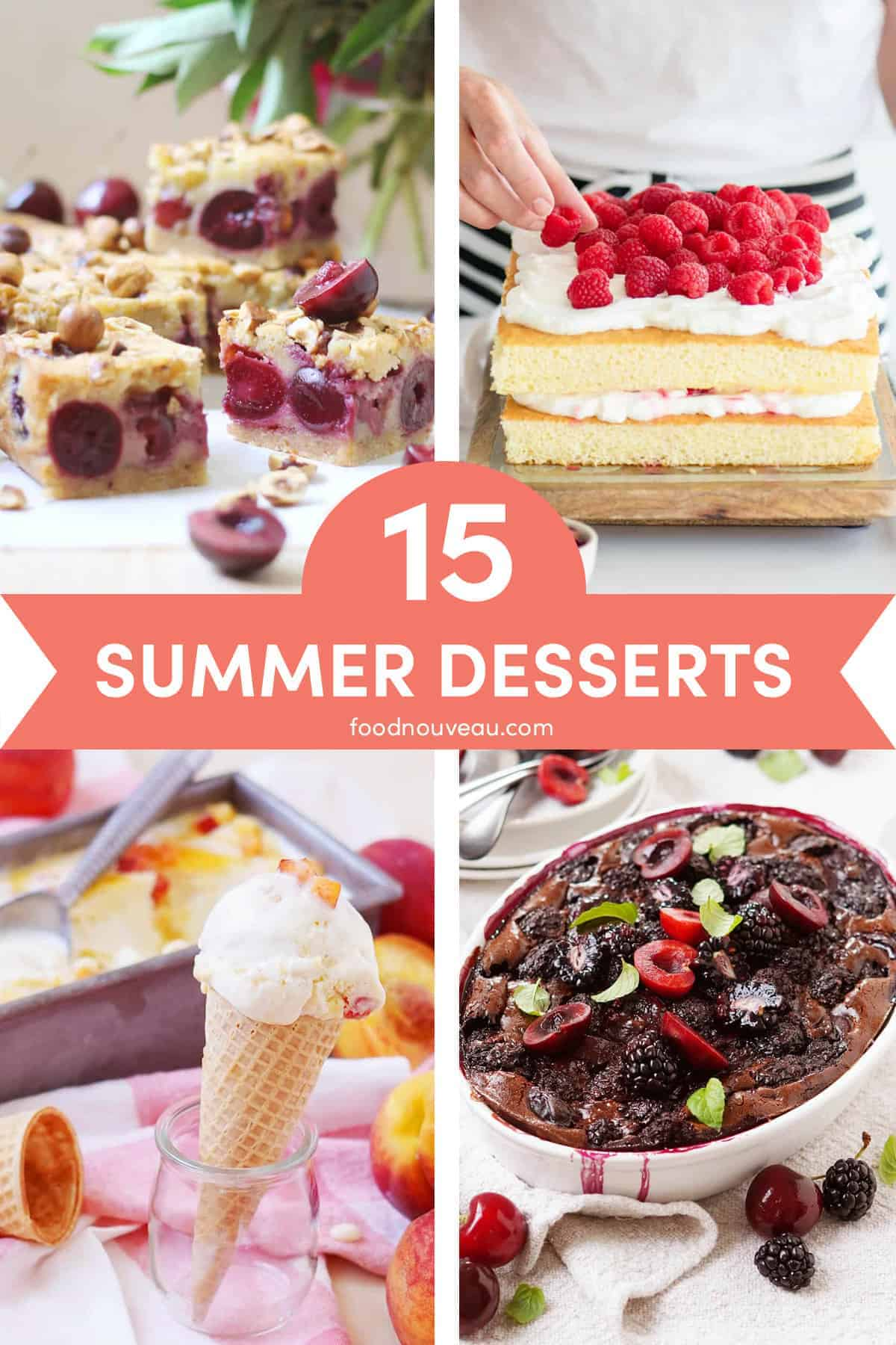 Summer Desserts: 15 Sweet and Colorful Summer Treats // FoodNouveau.com