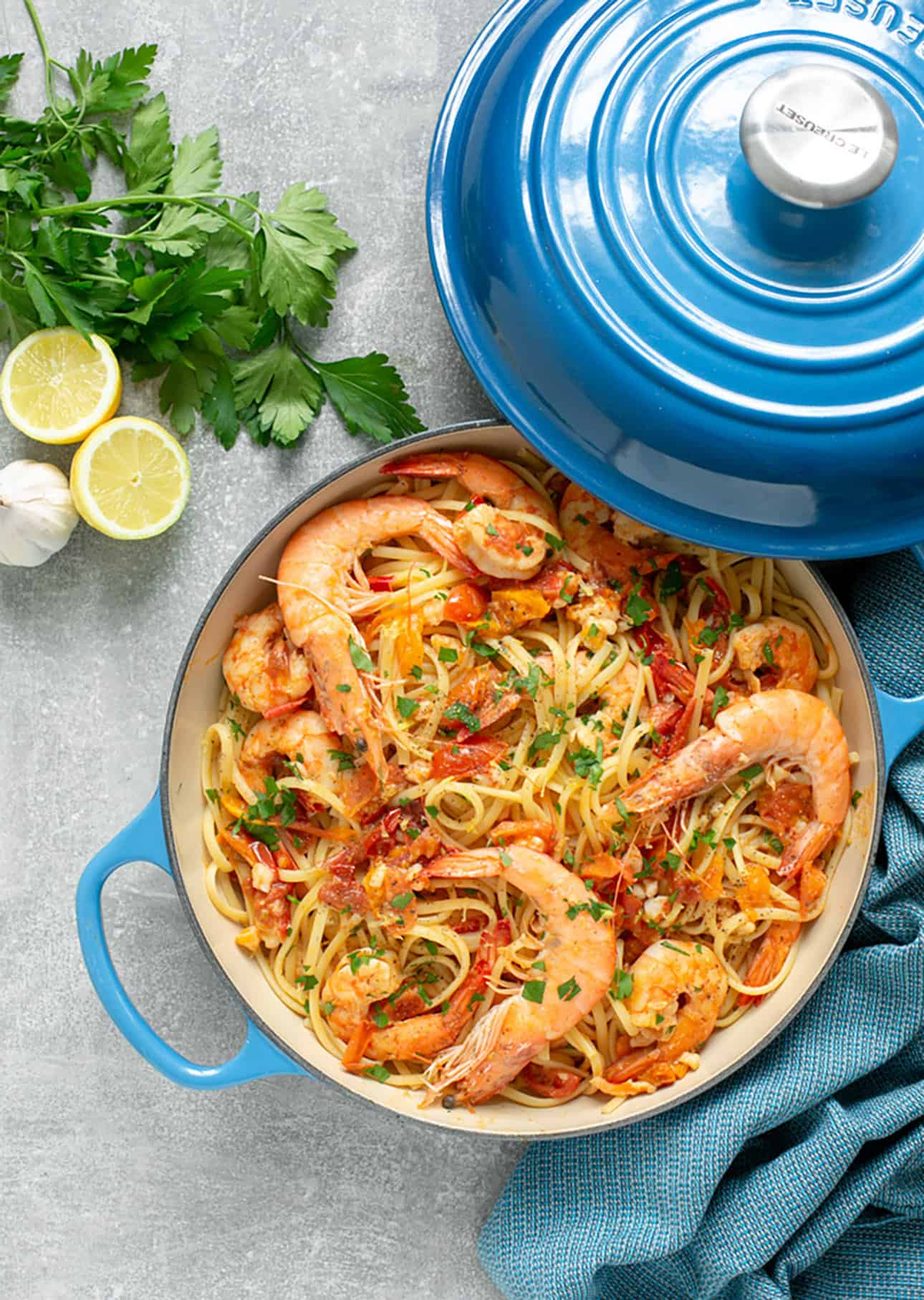 Linguini con Gamberi by The Petite Cook // 21 Easy Authentic Italian Pasta Dishes for Weeknight Dinners